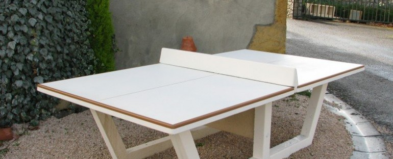 Mobilier béton : zoom sur la table de ping-pong 4/4