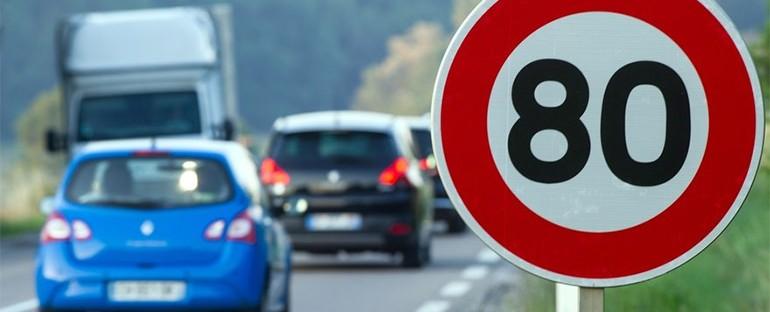 Limitation de vitesse : réduction à 80km/h dès Juillet 2018