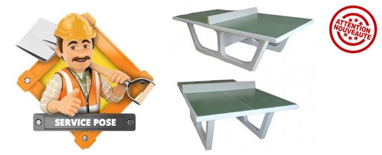 Faites poser la table de ping-pong en béton avec Net Collectivités